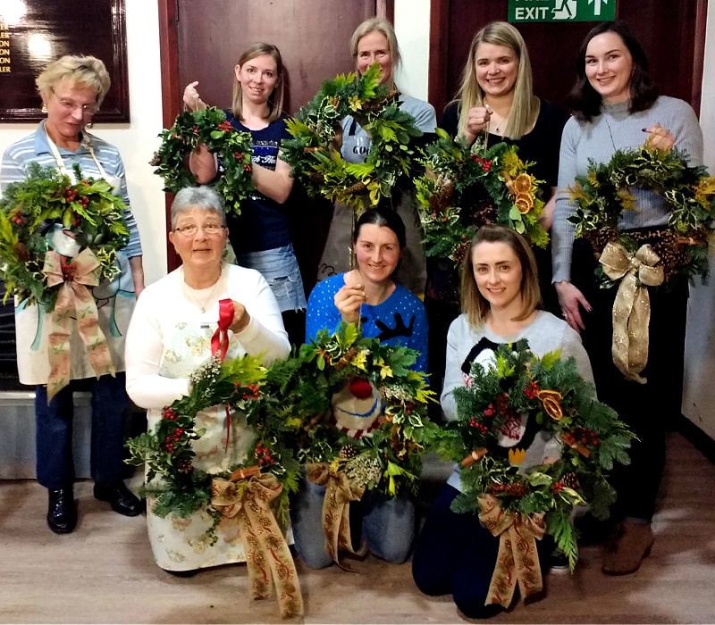 Make Your Own Christmas wreath workshop Dumfries copyright www.GallowayFlowers.co.uk